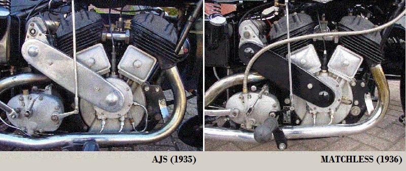 Ajs Modelo 31csr Matchless g12csr se Tipo Amortiguadores